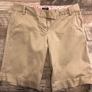 Tan J.Crew Bermuda Shorts